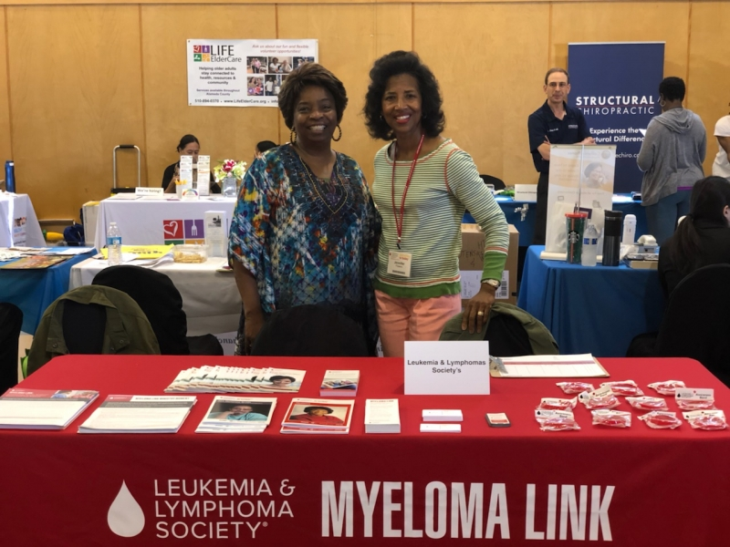 Jennifer volunteering at a Myeloma Link event in 2019.