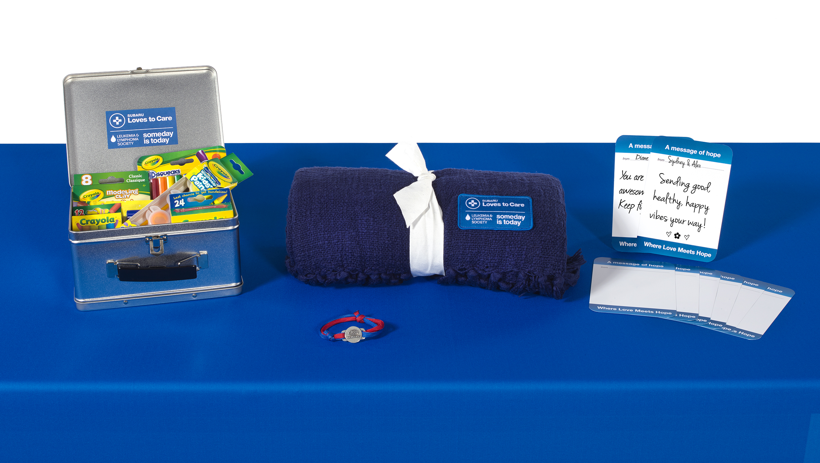 In June, LLS and participating Subaru retailers will provide blankets, messages of hope, and arts and crafts kits to cancer patients across the U.S.