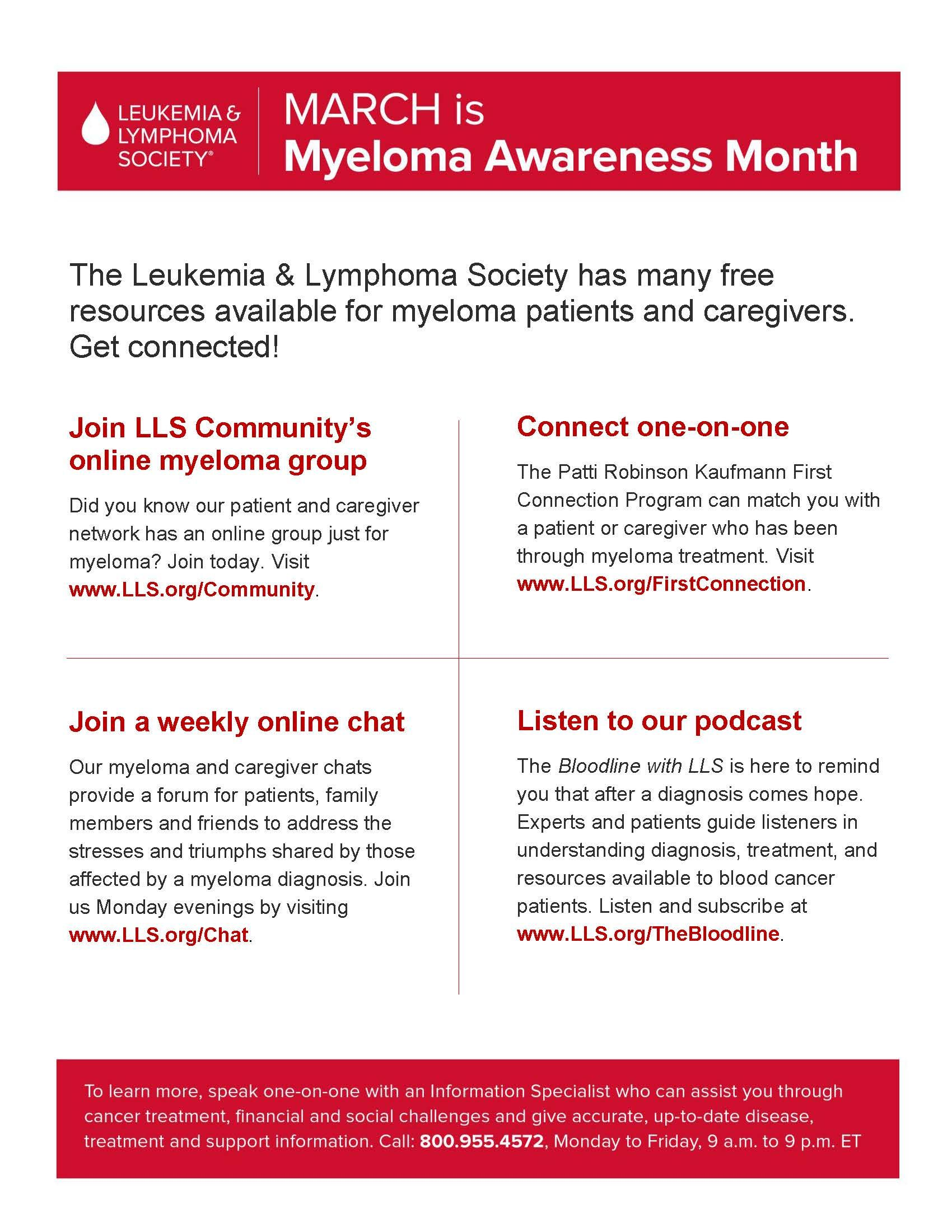 March is Myeloma Awareness Month!