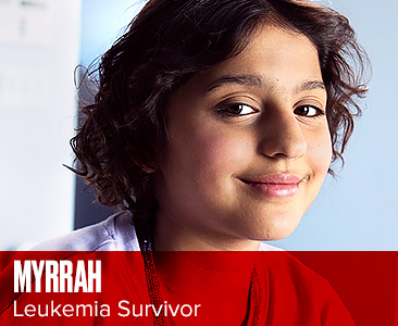 image of Myrrah, leukemia survivor