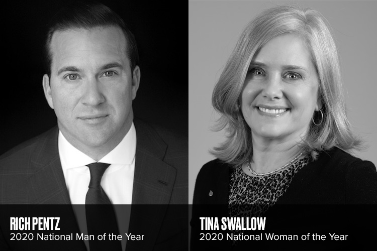 2020 Man & Woman of the Year Winners