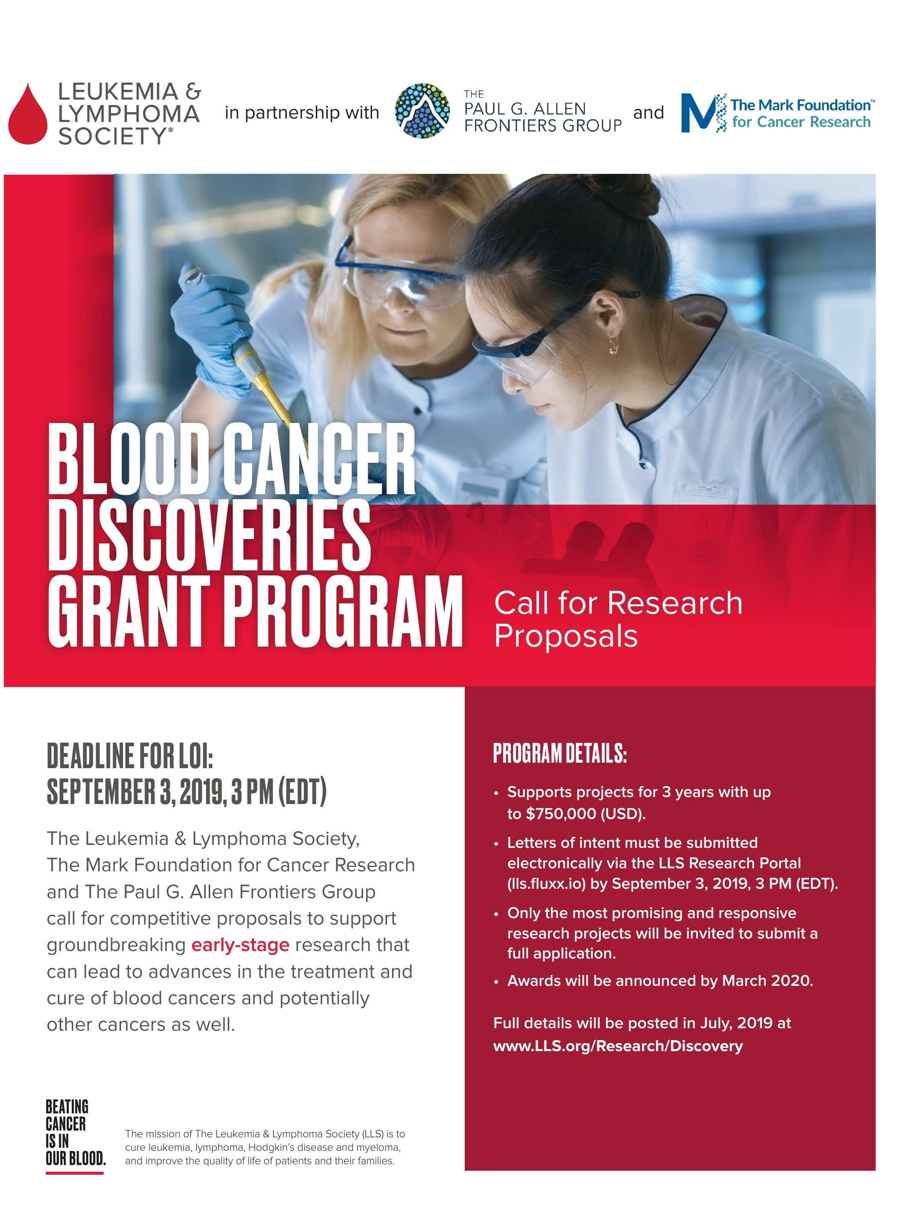 Blood Cancer Discoveries Grant Program (Now Accepting Applications