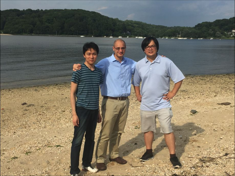 Co-first author Akihide Yoshimi (left), Omar Abdel-Wahab (middle), and co-first Dr. Kuan-Ting Lin (right) from Dr. Adrian Krainer's lab at Cold Spring Harbor Laboratory. (Daniel Wiseman is not shown).