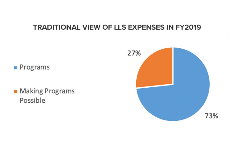 Traditional View of LLS Expenses in FY2019