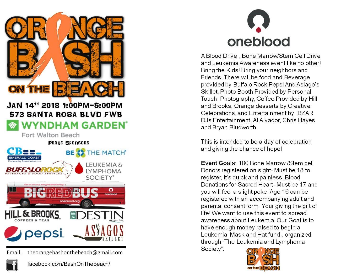 The orange bash on the beach leukemia and lymphoma society junglespirit Choice Image
