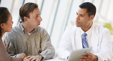 image of patient speaking with a specialist